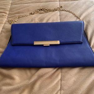 Royal blue Aldo clutch shoulder bag